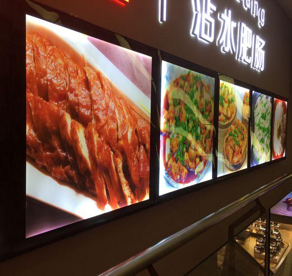 5 UNIDS 60x70 CM Marco de Aluminio Magnético Tablero de Menú de Restaurante LED Tableros de Luz, Señalización de Menú de LED Montado en la Pared
