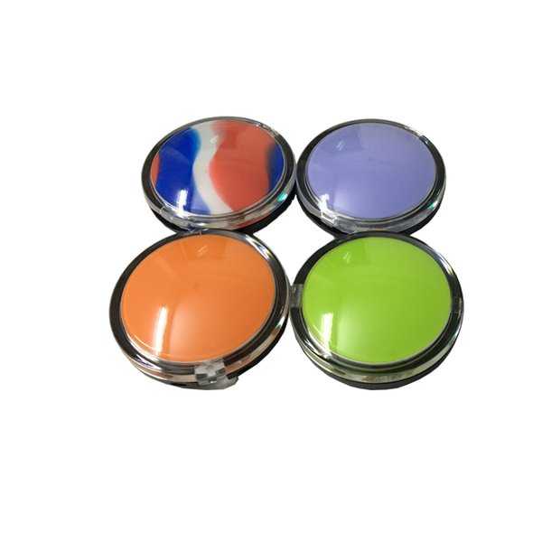 Clam Shell Silicone Dab Concentrate Containers 6 Ml Non-Stick Silicone Container Oil Slicks 3 Pcs/Lot