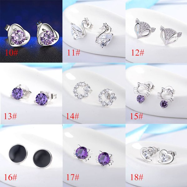 best selling 27 Colors Ear Stud 2018 New High-Quality Fashion Jewelry, Korean Fashion Women'S Earrings Accessory Wholesale Free Shipping