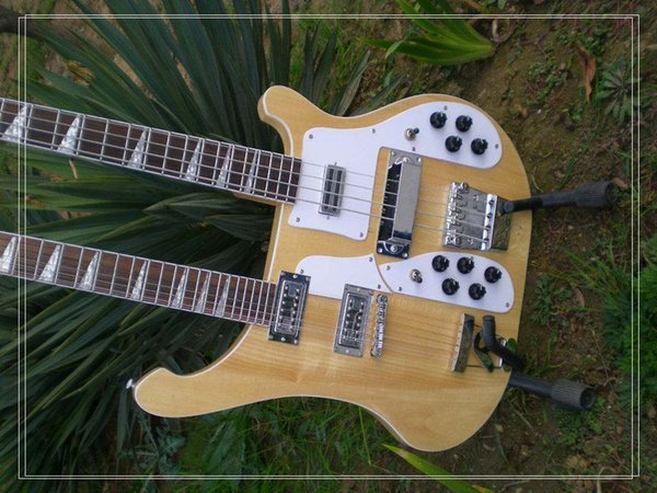 Free Ship R Original Double Neck 4 Strings Electric beth Bass Guitar and 12 Strings Electric Guitar