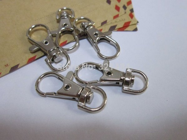 Large Strong Dull silver plated 100piece 38mm Swivel lobster clasp snap hook fit Purse chain/Key chains/Charms DIY