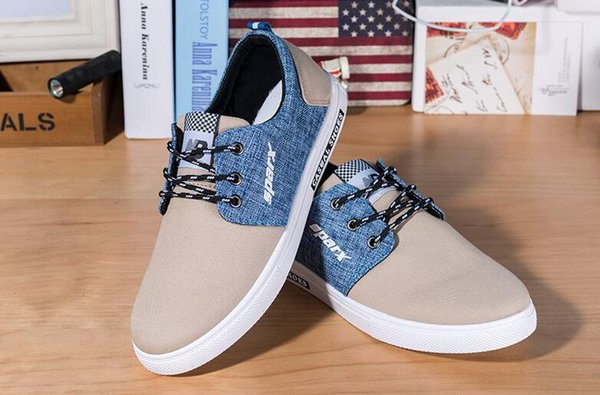 2019 best-selling popular men's Casual Shoes Canvas shoes sandals Fly line Lightweight Breathable Net surface Walking shoes 3 colors