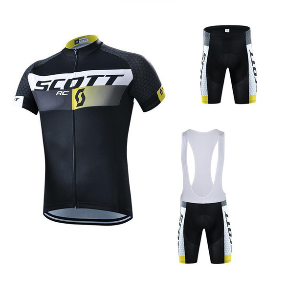 top popular 2017 Scott Tour De France Cycling Jerseys Short Sleeves ropa ciclismo High Quality summer Bike Wear Quick Dry Bicycle Clothing Size XXS-5XL 2019