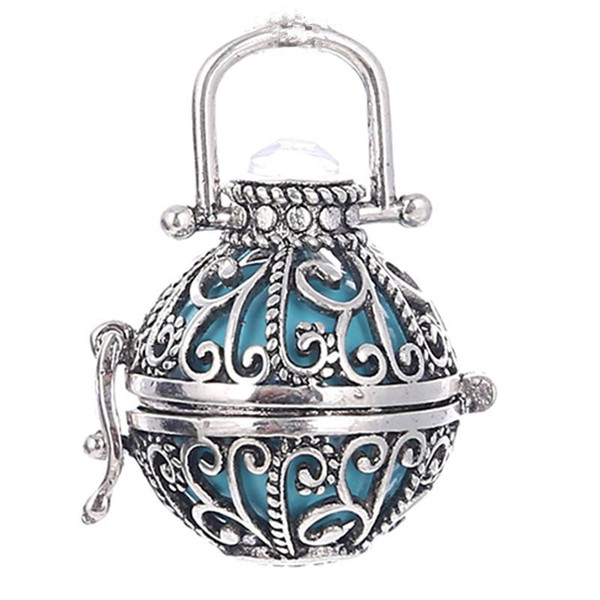 Fashion Opening floating Sound bead Lockets pendants 22*22mm Hollow Cage Pendant for Women Pregnany Mexico Harmony Balls Necklace Jewelry