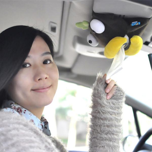 Großhandels-Auto Sonnenblende schöne Tissue Box Auto Zubehör Halter Papierserviette Clip-Cartoon Aufbewahrungsbox