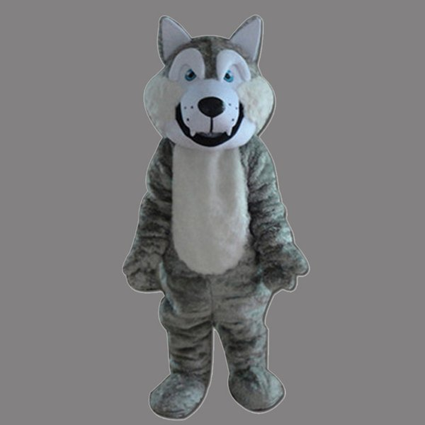 Big Gray Wolf Adult Size Mascot Costume Fancy Birthday Party Dress Halloween Carnivals Costumes With High Quality