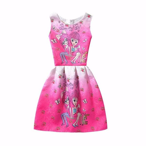 Compre 2016 Princesa Dresses De La Muchacha Del Verano Vestidos Sin ...