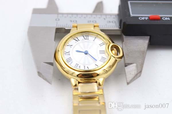 Male Yellow Stainless Steel Watches Ball Golden woMens Brand Fashion Sytyle Quartz Wristwatch Modern Dress Ladies Sport Watch