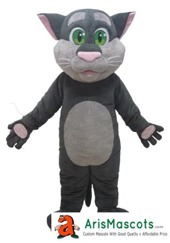 Erwachsene Größe lustige sprechende Tom Maskottchenkostüm Karikatur-Maskottchen-Kostüme für Kindergeburtstags-Party-Maskierung Maskottchen-kundenspezifische Maskottchen Arismascots