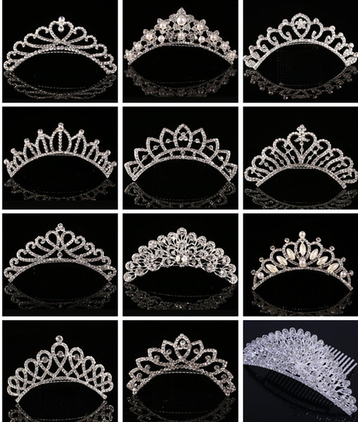 best selling Sparkling Crystal Bridal Crown Wedding Crowns Pearl Rhinestone Tiaras Hair Combs Hair Pin 2017 Luxury Hair Jewelry Accessories for Bride