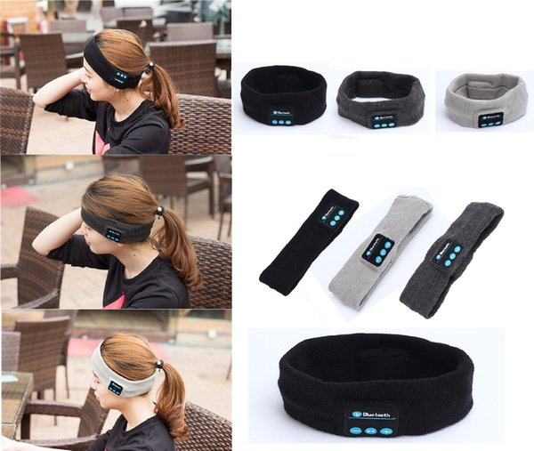 Sport Running Yoga Music Hair Band Elastic Running Cycling Bluetooth Headset Smart Speaker Mic Stereo Music headband Headphone MK72