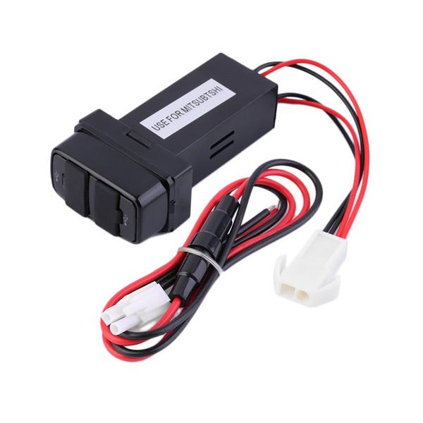 Großhandels- 2016 neue Doppel-USB-Häfen-Armaturenbrett-Berg-schnelles Ladegerät 5V für Mitsubishi-Auto für Telefon für mp3 / 4Hot Verkauf