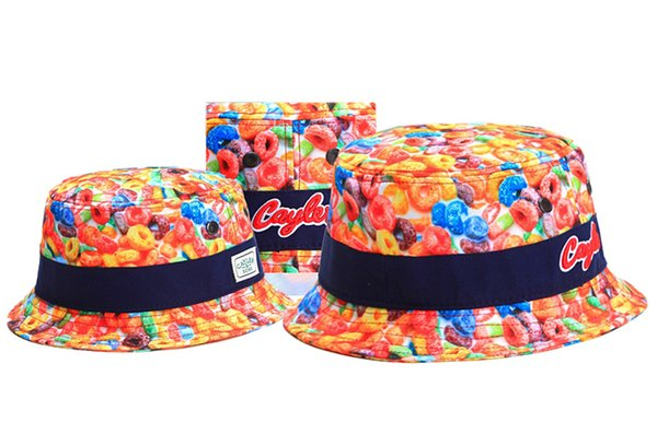 Free Shipping Colorful Cayler & Sons Bucket Caps Fashion Street Hip Hop Fisherman Caps Sports Snapback Hats Designer Baseball Caps TYMY 39