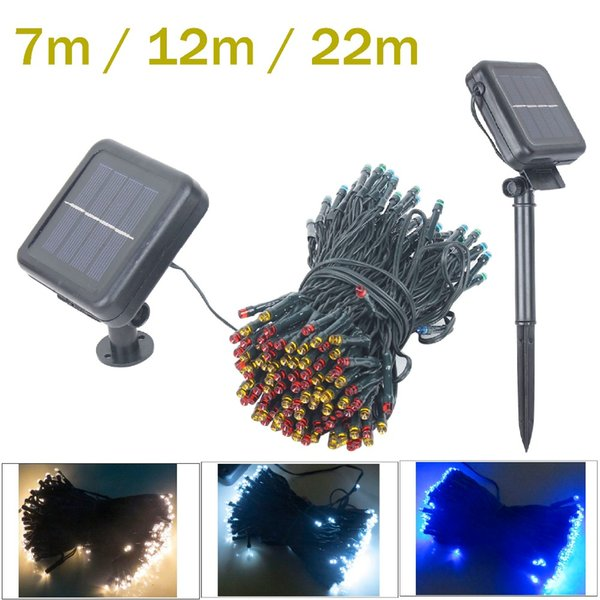Wholesale- 50/100/200LED Solar led fairy String Light Christmas light fairy light garland outdoor Wedding Garden Party Decor With Battery