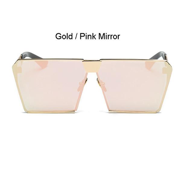 Cadre doré Miroir rose