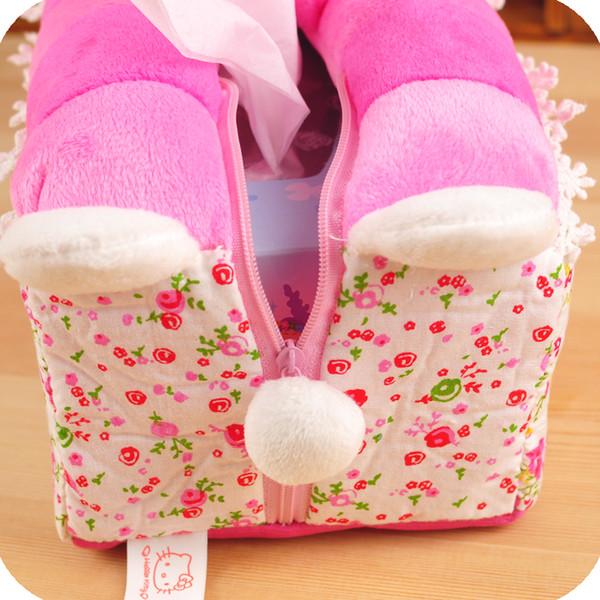 vendita uk rivenditore di vendita acquisto autentico Acquista All'ingrosso Kawaii Hello Kitty Rose Pink Car Room Divano Tessuto  Scatola Di Immagazzinaggio Contenitore Di Stoffa Tessuto Scatola Dei Posti  ...
