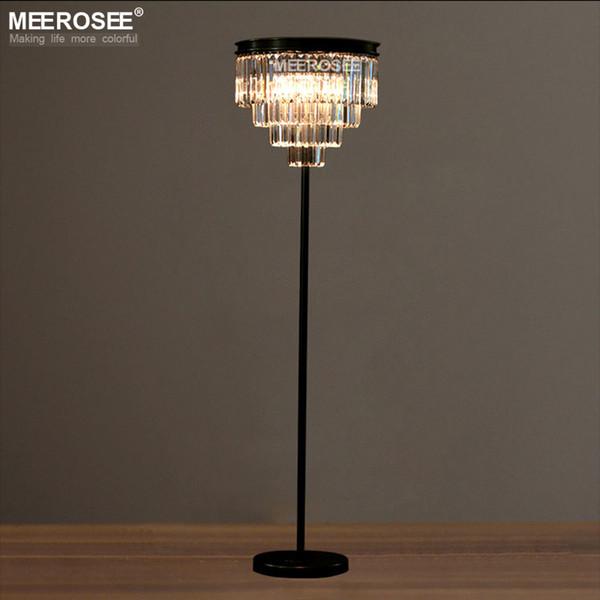 Nouvelle Arrivée lampadaire Cristal Debout Luminaire Cristal Candélabre Stand Lustre pour Salon Salle À Manger Chambre Café Hôtel