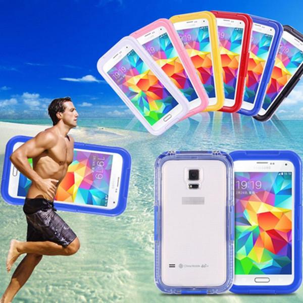 Para iphone 7 natação à prova d 'água casos de mergulho capa shell subaquática para iphone 6 6 s 7 plus samsung s6 s7 edge