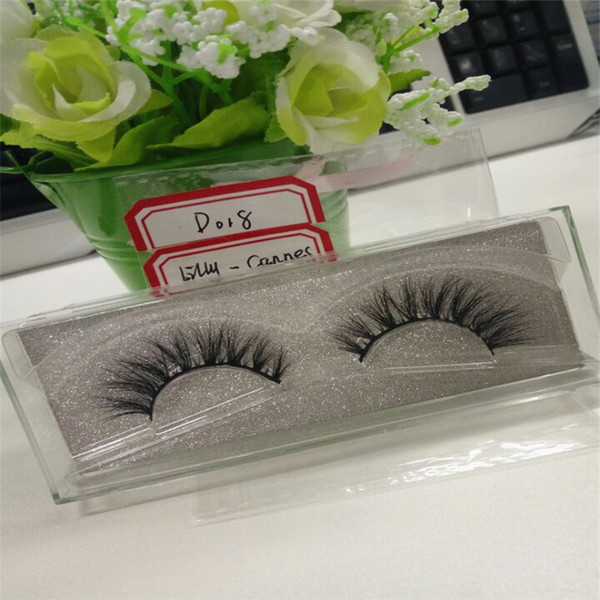 Natural 3D 100% Real Mink False Eye Lashes 10 Pairs/lot Mink Individual Fake Eyelashes Extensions For Makeup Free Shipping