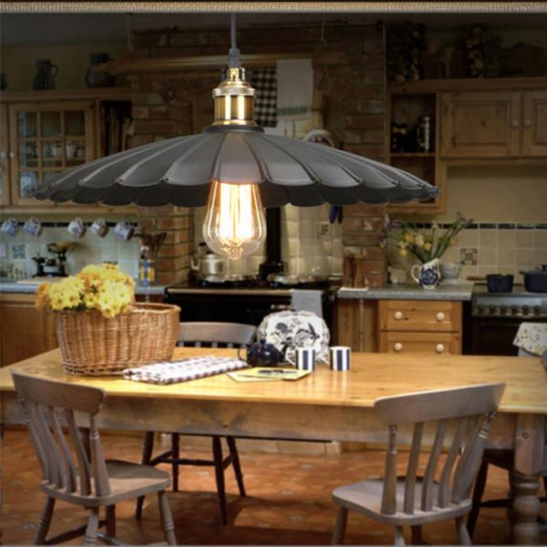 Retro pendurado lâmpada do vintage para sala de estudo retro lâmpada edison lâmpada pingente de fio de luz do vintage led cozinha pendurado luzes edison pingente lâmpadas
