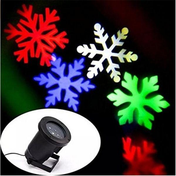 2016 Christmas Moving Sparkling LED Snowflake Landscape Proyector láser Lámpara de pared Luz de Navidad White Snow Sparkling Landscape Proyector Luces