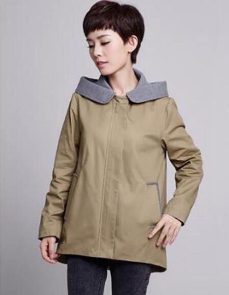 Mulheres qiu dong han edição business inglês new boutique fashion personalidade grande jardas trench coat / m-5xl