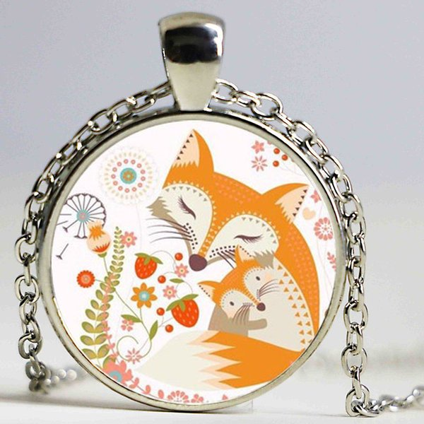 Drop Shipping New Vintage Jewelry High Quality Anime Necklace Loverly Fox Pendant Necklace Factory Fast Delivery Gift