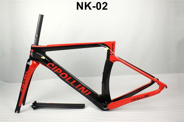 2017 New 1:1 Model Cipollini NK1K Carbon Road Bike Frame glossy/matte1K/3K frameset fork seatpost clamp Racing Bicycle Frame