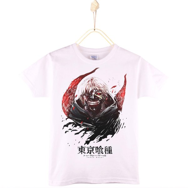 2017 New Casual Spring Summer Children Clothes Kids T-shirt Tokyo Ghoul 100% Cotton Design Boys T Shirts Girls Tops Baby Tshirt