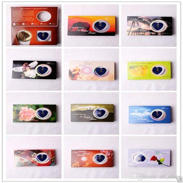 12 pezzi Set Collana pendente goccia d'amore di Love Wish Pearl (In Oyster)