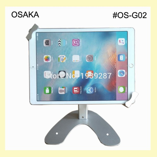 Wholesale- 10 to 13 inch tablet table security kiosk stand for Surface Pro 12 inch display mounting on desktop lock holder universal