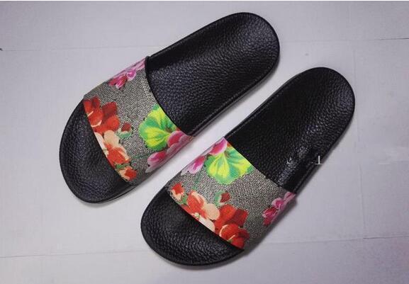 nueva moda para hombres y mujeres moda flor roja flores impresión deslice sandalias unisex causal zapatillas de verano playa al aire libre