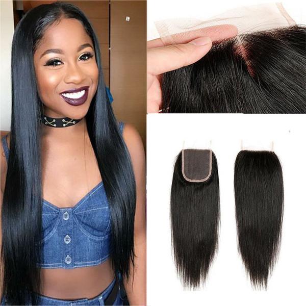 Beste Qualität Brasilianische Gerade Reine Haarwebart-erweiterungen 3 Bundles mit Schnürsenkel Kostenloser Mittleren 3 Teil Doppelschuss Kann Gefärbt werden