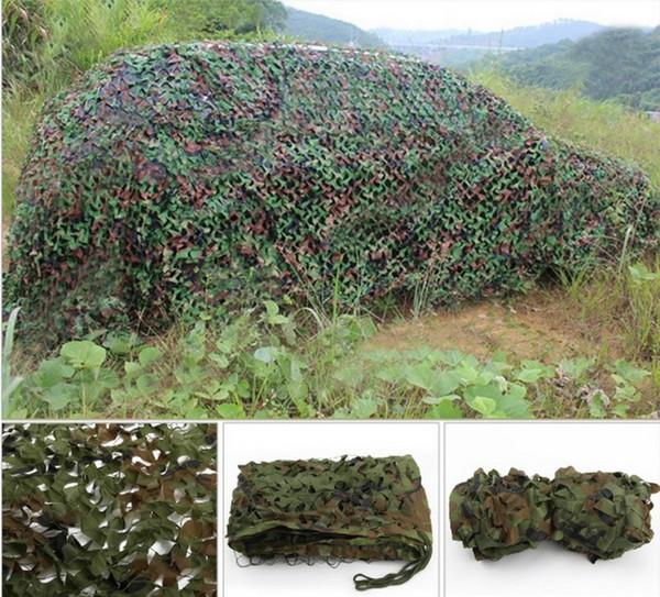 Toptan-1.5 M * 5 M Güneş Barınak Net Avcılık Kamp Woodland Jungle Camo Jaluzi Tarp Araba-kapakları Çadır VG082 T15 0.5