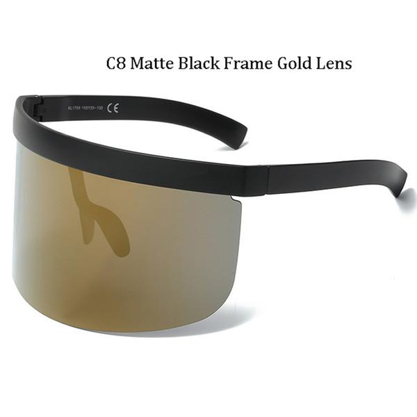 C8 Matte Black Frame Lentille dorée