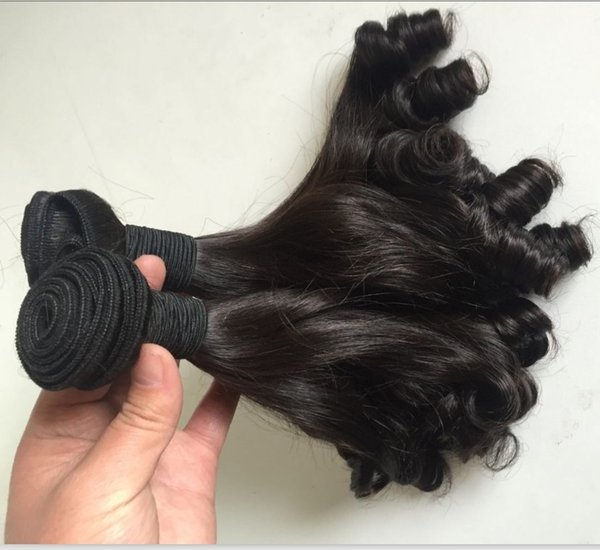 high quality natural color unprocessed peruvian virgin human hair 3pc a lot bouncy tip curls funmi hair weaves free shipping