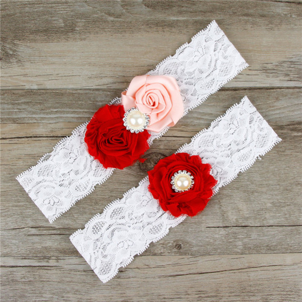 garter handmade bead plate flower wedding bridal gowns wedding Accessories Sexy Lingerie Leg Foot Ring Loops Laciness Lace Garter Belt TH0