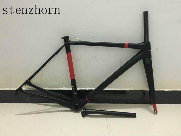 2017 Toray equipe céu T1100 1k ou 3 K modelo de Alta qualidade completa bicicleta de estrada de bicicleta frameset + garfo + espigão + fone de ouvido + braçadeira, muitas cores podem ser escolher