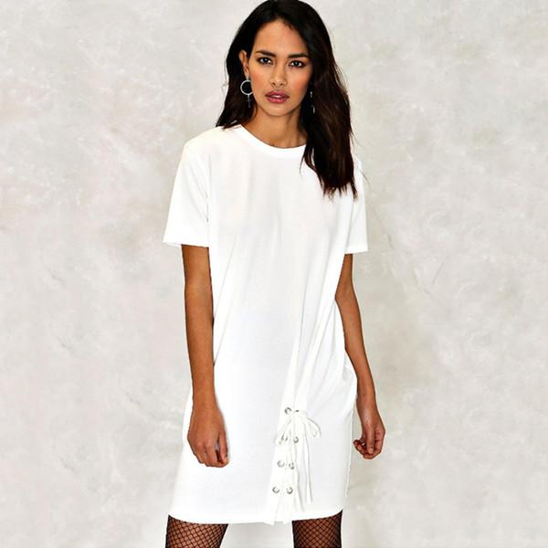 Großhandel Schwarz Weiß Casual Frauen Kleid Plus Größe Elegante ...