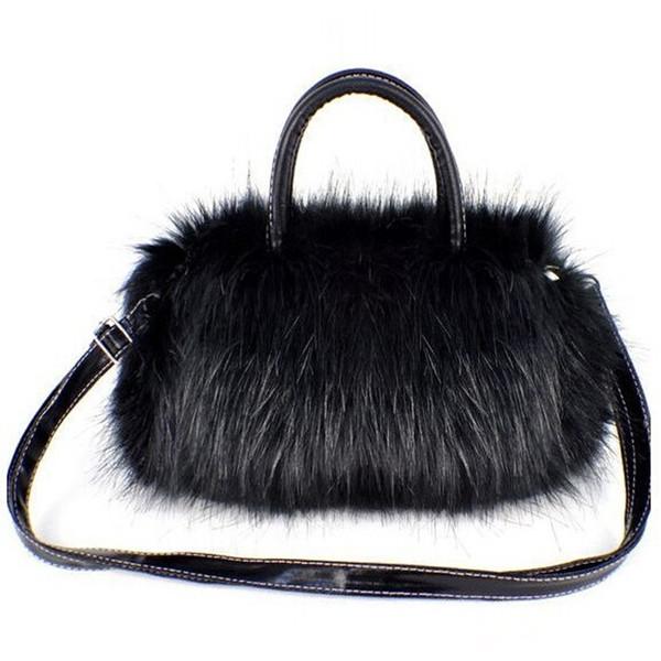 Wholesale- Europe winter popular new small shoulder bag Korean version of Messenger bag plush women mini handbags 25*17*8cm