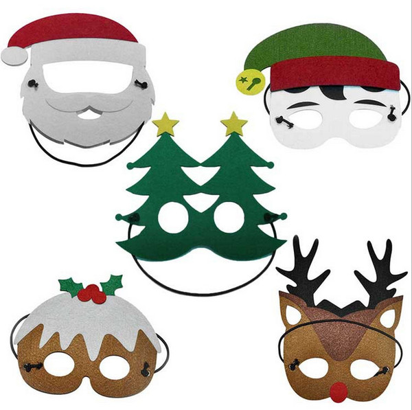 Photo Booth Weihnachten.Großhandel Halbe Masken Weihnachten Weihnachten Santa Party Masken Photo Booth Requisiten Schnurrbart Festliche Party Supplies Weihnachten Marken
