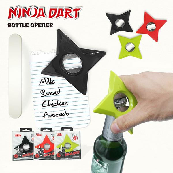 Super Magnetic Wine Bottle Opener Fridge Magnet Darts Five-pointed Star Corkscrews Kitchen Essential