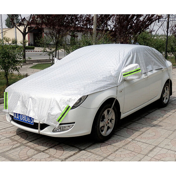 best selling Customizable! Universal Aluminum Waterproof Seamless Sunshade Car Cover Half Covers Protection for Saloon, Hatchback, SUV