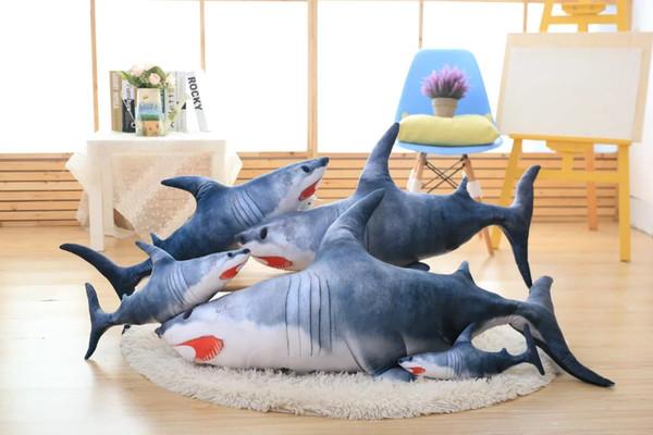 40 80 cm 1 stck gefllte simulation shark kreative groe plsch spielzeug hai kissen kissen - Haikissen
