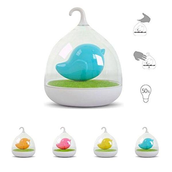 Hand-Design wiederaufladbare Touch Sensor Vibration 4 Farben LED Birdcage Lampe LED Vogel Nachtlichter für Kinder Touch Dimmer Schlafzimmer Lichter