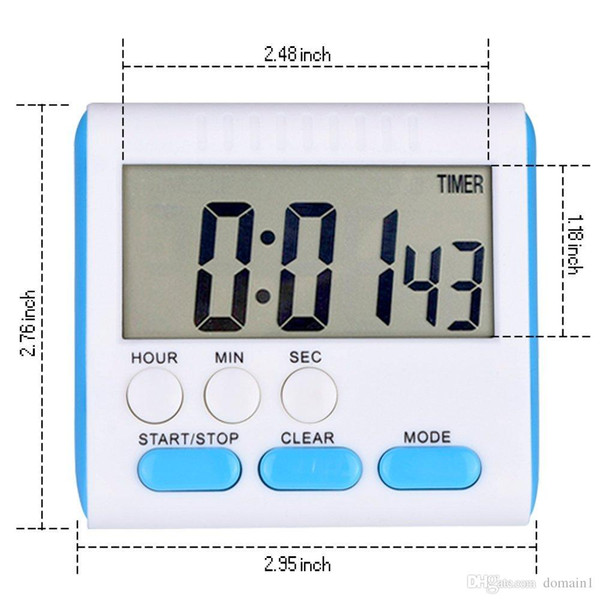 2017 New Magnetic Large LCD Digital Kitchen Timer 24 Hours Count-Down Up Alarm Clock Timer with Loud Alarm and Big Screen