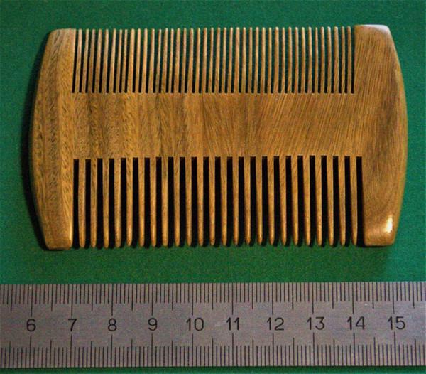 9.5cm * 5.5cm Natural Sandalwood Comb - Anti-Static High Quality Handmade Pocket Beard Mustache Two Sides Combs Hair Brush For Men's Gift