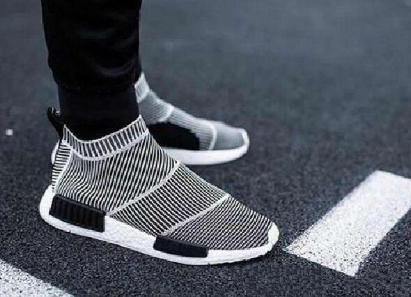 detailed look 6f0a2 0e9c3 The Best S79150 2017 NMD GLOW IN DARK NMD City Sock Runner Primeknit R1  Black White Stripes Men Women Running Shoes Sneakers Most Comfortable Shoes  ...