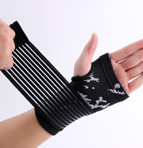 Al por mayor- material de nylon y spandex ajuste negro palma de la mano apoyo abrazadera envío gratis # ST6824