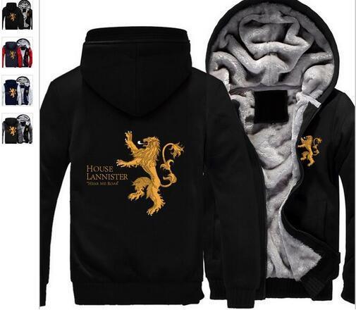 Game of Thrones Lannister Hooded Sweatshirt Hear Me Roar Sweater Shirt Hoodie